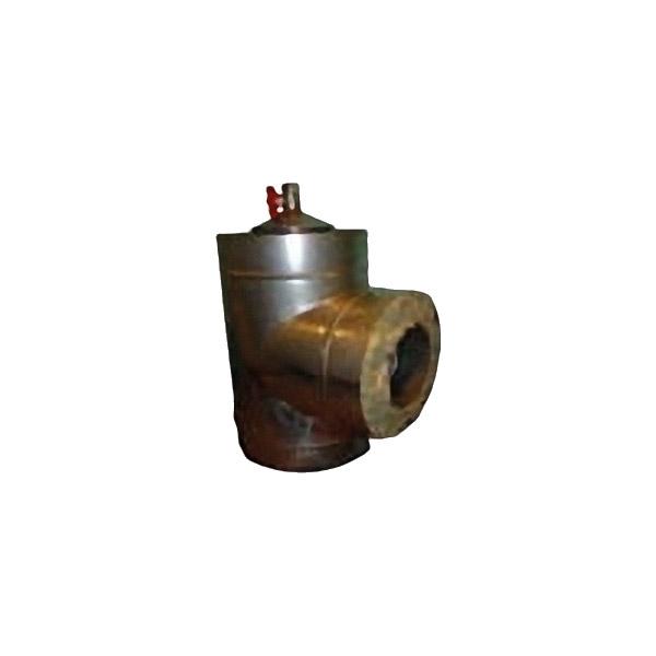 Тройник с конденсатоотводом 100/180 с изоляцией